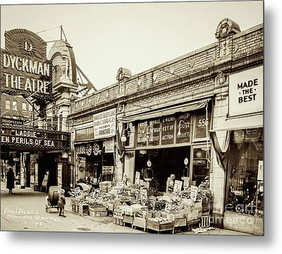 Metal Print featuring the photograph Dyckman Theater, 1926 by Cole Thompson