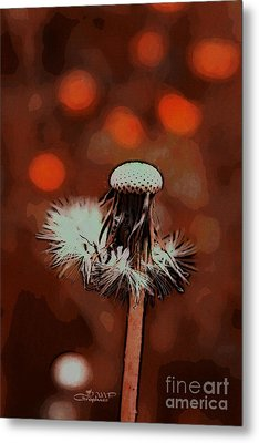 Dying Blowball Metal Print by Jutta Maria Pusl