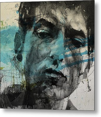 Dylan - Retro  Maggies Farm No More Metal Print by Paul Lovering