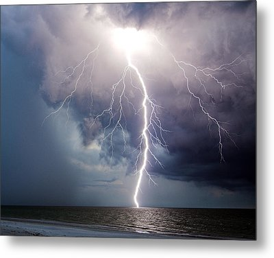 Dynamic Electricity Metal Print