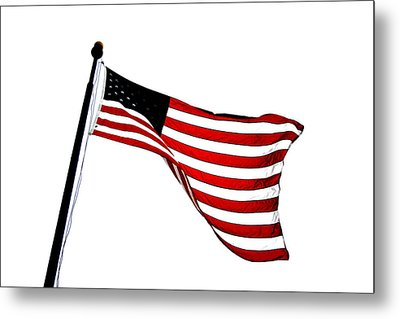 Dynamic Stars And Stripes Metal Print