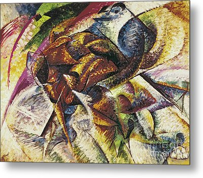 Dynamism Of A Cyclist Metal Print by Umberto Boccioni