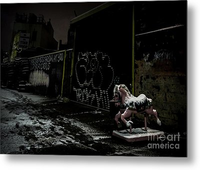 Dystopian Playground 1 Metal Print by James Aiken