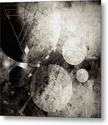 Dystopian Space Metal Print
