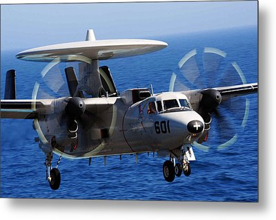 E-2c Hawkeye Us Navy Metal Print by Celestial Images
