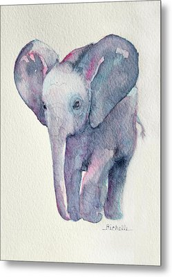 E Is For Elephant Metal Print by Richelle Siska