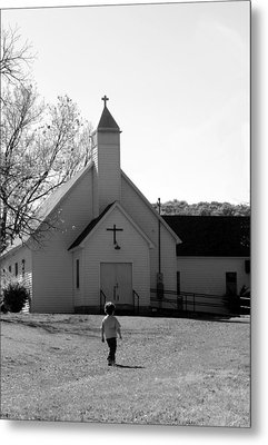 E-to-the-church Metal Print