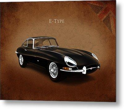 E Type Jaguar Metal Print by Mark Rogan