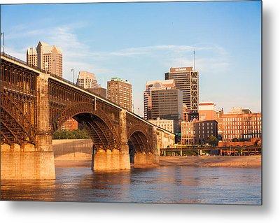 Eads Bridge At St Louis Metal Print