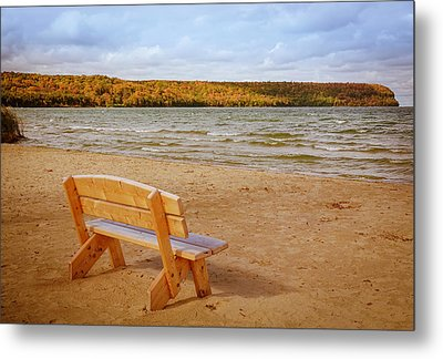 Metal Print featuring the photograph Eagle Harbor Summer Is Over by Heidi Hermes