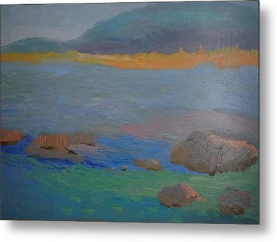Eagle Lake In Blue Metal Print