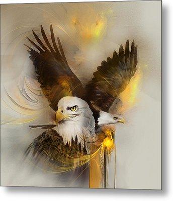 Eagle Pair Metal Print by Jackie Flaten