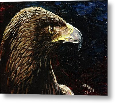 Eagle Profile Metal Print by Emil F Major