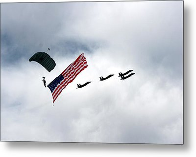 Eagle Salute Metal Print by Michael Courtney