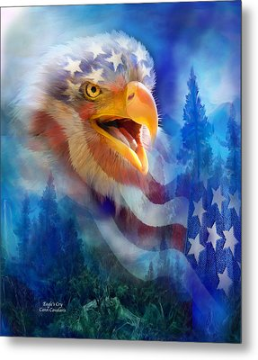 Eagle's Cry Metal Print by Carol Cavalaris