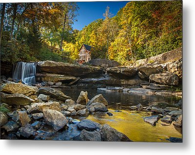Early Autumn At Glade Creek Grist Mill 2 Metal Print by Shane Holsclaw