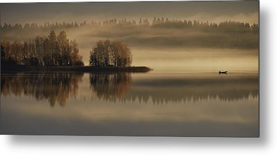 Early Autumn Morning Metal Print by Pekka Ilari T