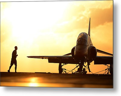 Early Birds Us Navy Metal Print by Celestial Images