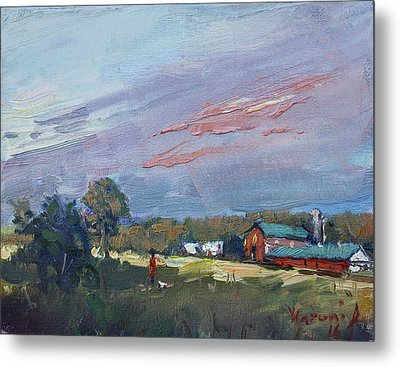 Early Evening At Phil's Farm Metal Print by Ylli Haruni
