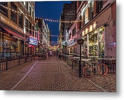Early Evening On E. 4th Metal Print