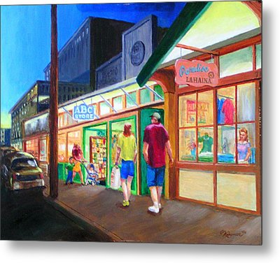 Early Evening Shoppers Metal Print by Bob Newman