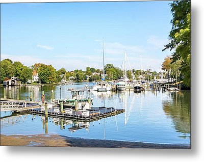 Metal Print featuring the photograph Early Fall Day On Spa Creek by Charles Kraus