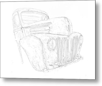 Early Ford Truck Metal Print