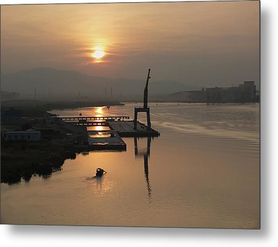 Metal Print featuring the photograph Early Hour On The River by Lucinda Walter