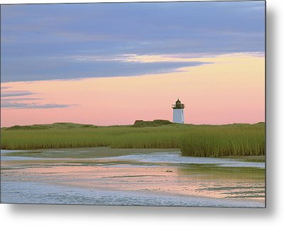 Metal Print featuring the photograph Early Light At Wood End Light by Roupen  Baker