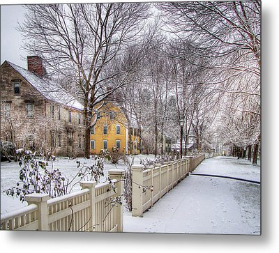 Early Massachusetts Metal Print by Betsy Zimmerli