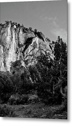 Early Morining Zion B-w Metal Print by Christopher Holmes