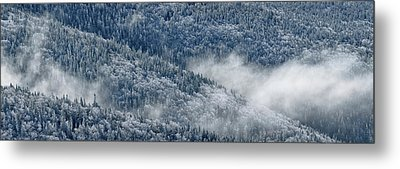 Metal Print featuring the photograph Early Morning After A Snowfall by Sebastien Coursol