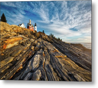 Early Morning At Pemaquid Point Metal Print by Darren White
