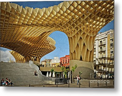 Early Morning At The Plaza Encarnacion - Seville Metal Print by Mary Machare