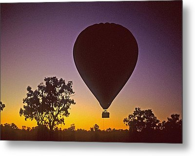 Early Morning Balloon Ride Metal Print by Gary Wonning