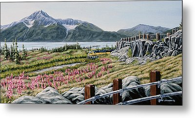 Metal Print featuring the painting Early Morning Bird Point by Kurt Jacobson