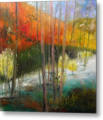 Metal Print featuring the painting Early Morning Display by John Williams