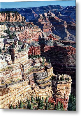 Early Morning From The South Rim Metal Print