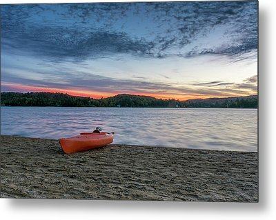 Early Morning On Oxtongue Lake Metal Print by Irwin Seidman