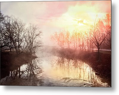 Metal Print featuring the photograph Early Morning On The River by Debra and Dave Vanderlaan