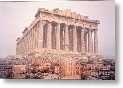 Metal Print featuring the photograph Early Morning Parthenon by Nigel Fletcher-Jones