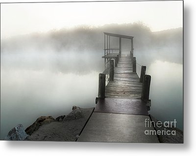 Yesterday's Early Morning Pier Metal Print by Tamyra Ayles