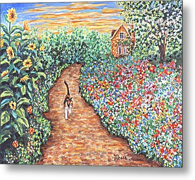 Early Morning Stroll Metal Print by Linda Mears