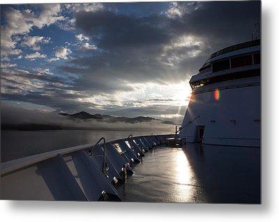Early Morning Travel To Alaska Metal Print by Yvette Van Teeffelen