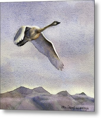 Metal Print featuring the painting Early Riser by Kris Parins