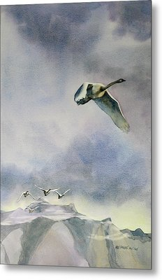 Metal Print featuring the painting Early Risers by Kris Parins