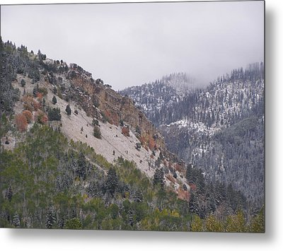 Metal Print featuring the photograph Early Snows by DeeLon Merritt