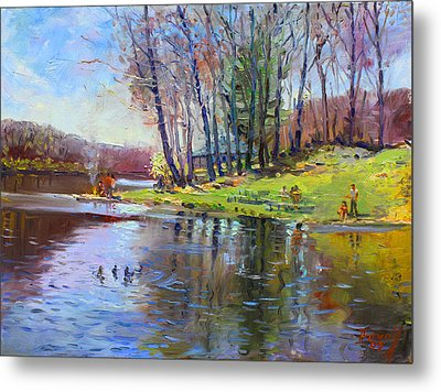 Early Spring In Bear Mountain Metal Print