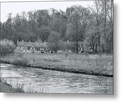 Early Spring In England Black And White Metal Print by Jasna Buncic