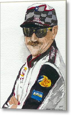 Metal Print featuring the painting Earnhardt Attitude by Lynn Babineau